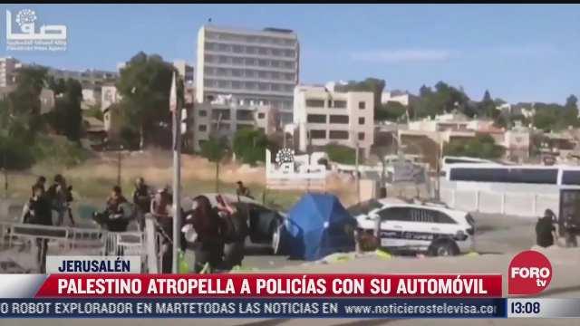 palestino atropella a policias con su automovil en jerusalen