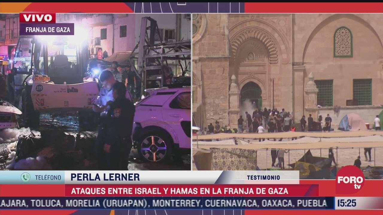 perla lerner da testimonio de ataques entre israel y hamas