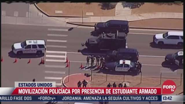 persona armada en escuela de eeuu genera movilizacion policiaca
