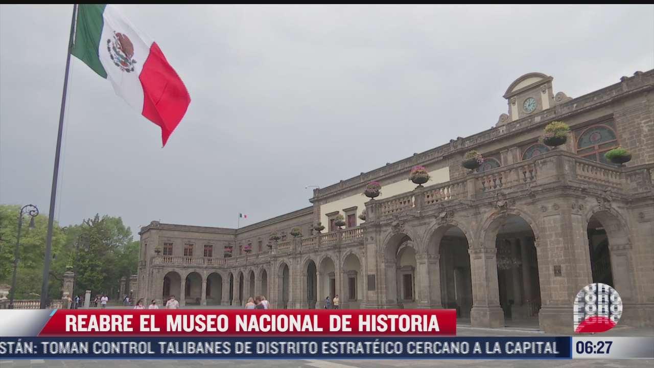 reabre museo nacional de historia tras cerrado estar mas de un ano por covid
