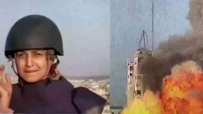 Reportera en Gaza es sorprendida por bomba durante transmisión en vivo. (Foto: Captura de pantalla, Noticieros Televisa).