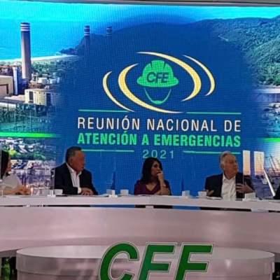 Reunión Nacional de Atención a Emergencias 2021 (Twitter: @CFEmx)