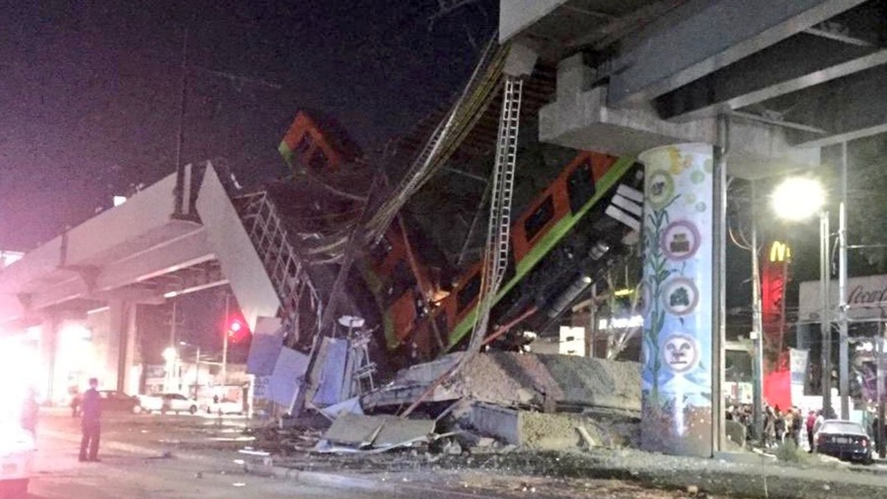 Se desploma tramo con trenes en la estación Olivos de la Línea 12 del Metro CDMX