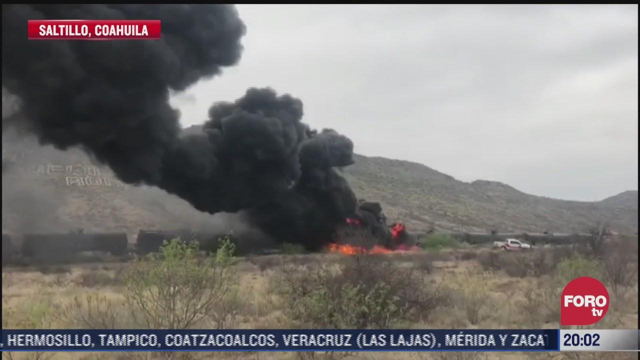 se incendia vagon de tren cargado con combustible en saltillo
