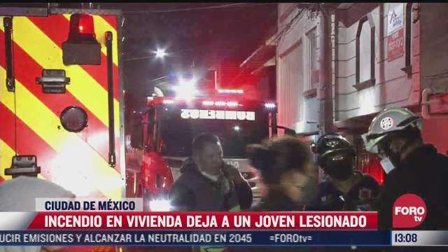se incendia vivienda donde almacenaban solvente en cdmx hay un herido