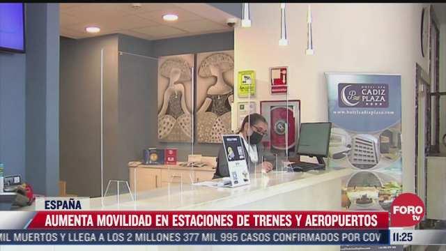 se incrementa movilidad en aeropuertos de espana tras confinamiento por covid