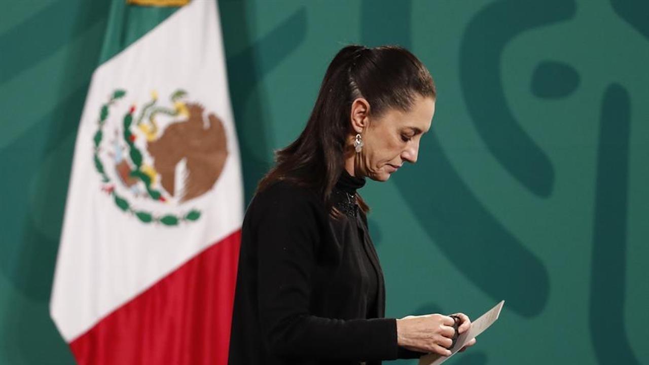 La jefa de Gobierno de la CDMX, Claudia Sheinbaum, en la conferencia matutina en Palacio Nacional habló sobre accidente de L12 (EFE)