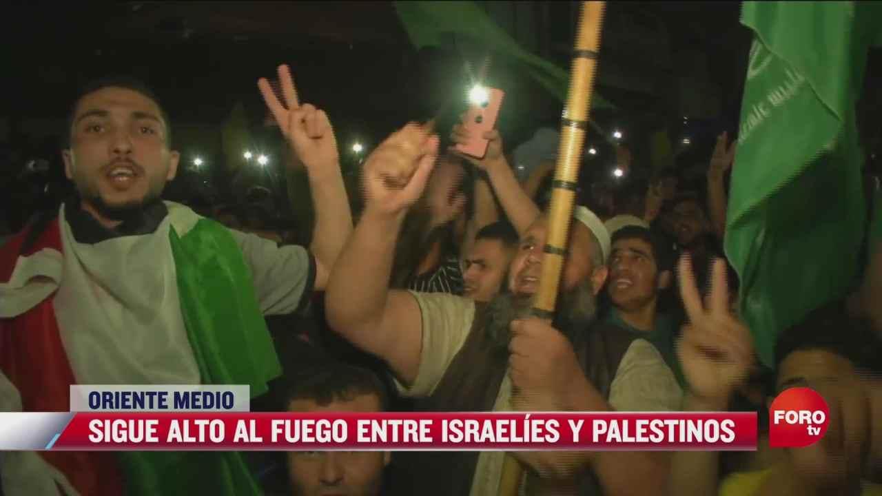 sigue alto al fuego entre israelies y palestinos