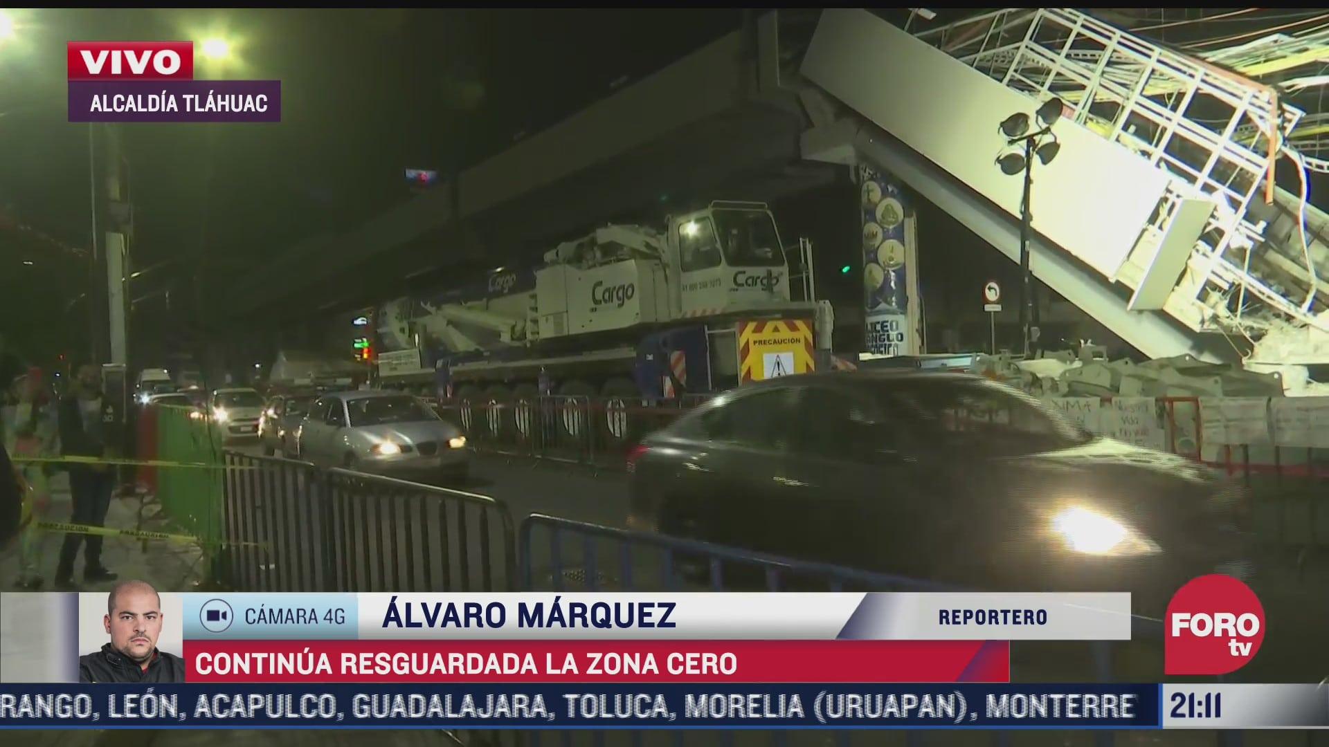 Sigue resguardada zona de colapso de la Línea 12 del Metro