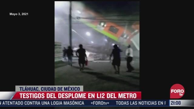 testigos hablan del desplome en la linea 12 del metro