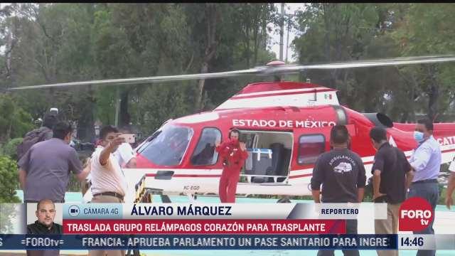 trasladan corazon para trasplante via helicoptero en cdmx