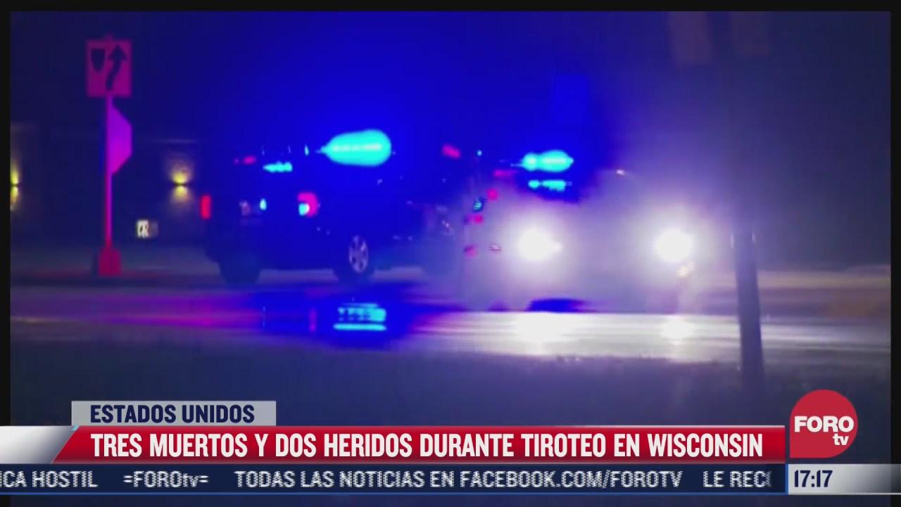 tres muertos y dos heridos durante tiroteo en wisconsin eeuu