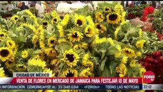 venta de flores por el dia de madres en el mercado jamaica
