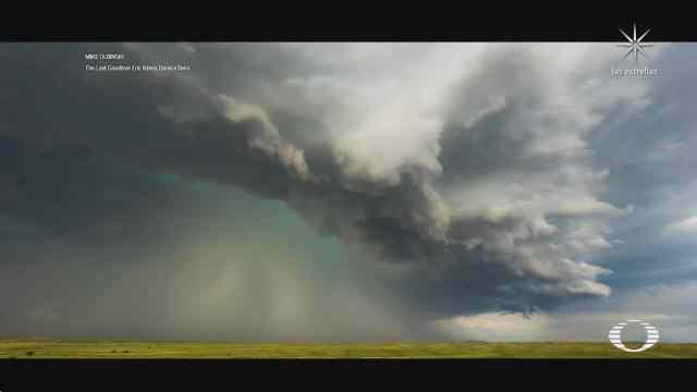 video muestra el poder de los huracanes
