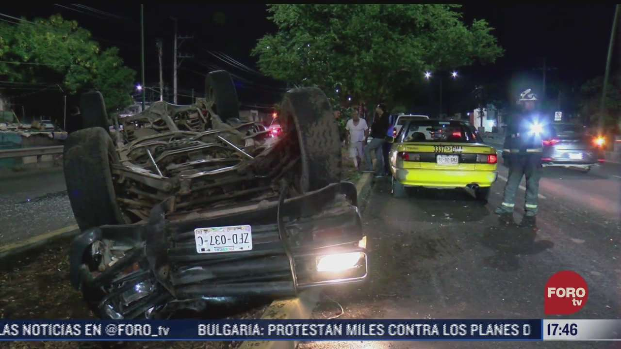 accidente vial deja 3 mujeres lesionadas en zapopan