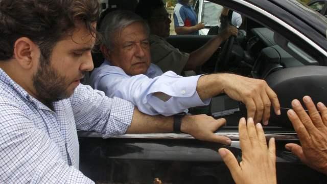 Andrés Manuel López Obrador, presidente de México, durante su visita al municipio de Florencio Villareal en la Costa Chica de Guerrero (Cuartoscuro)