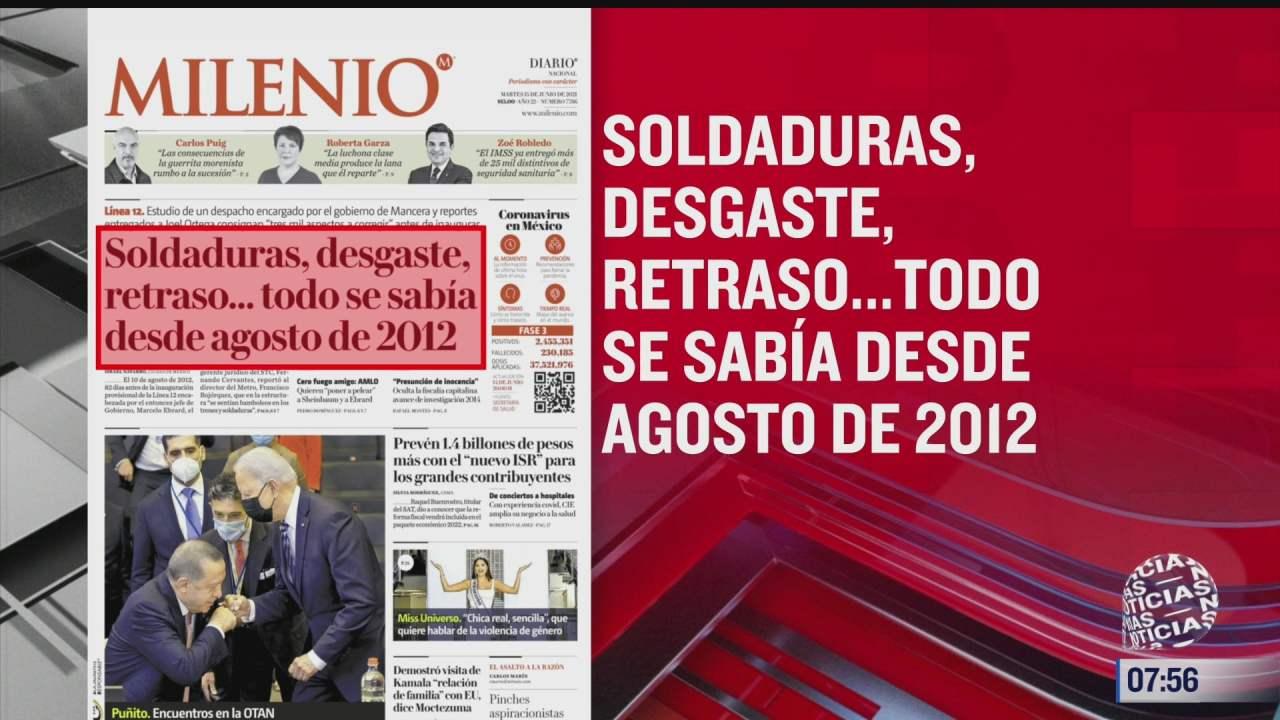 analisis de las portadas nacionales e internacionales del 15 de junio del