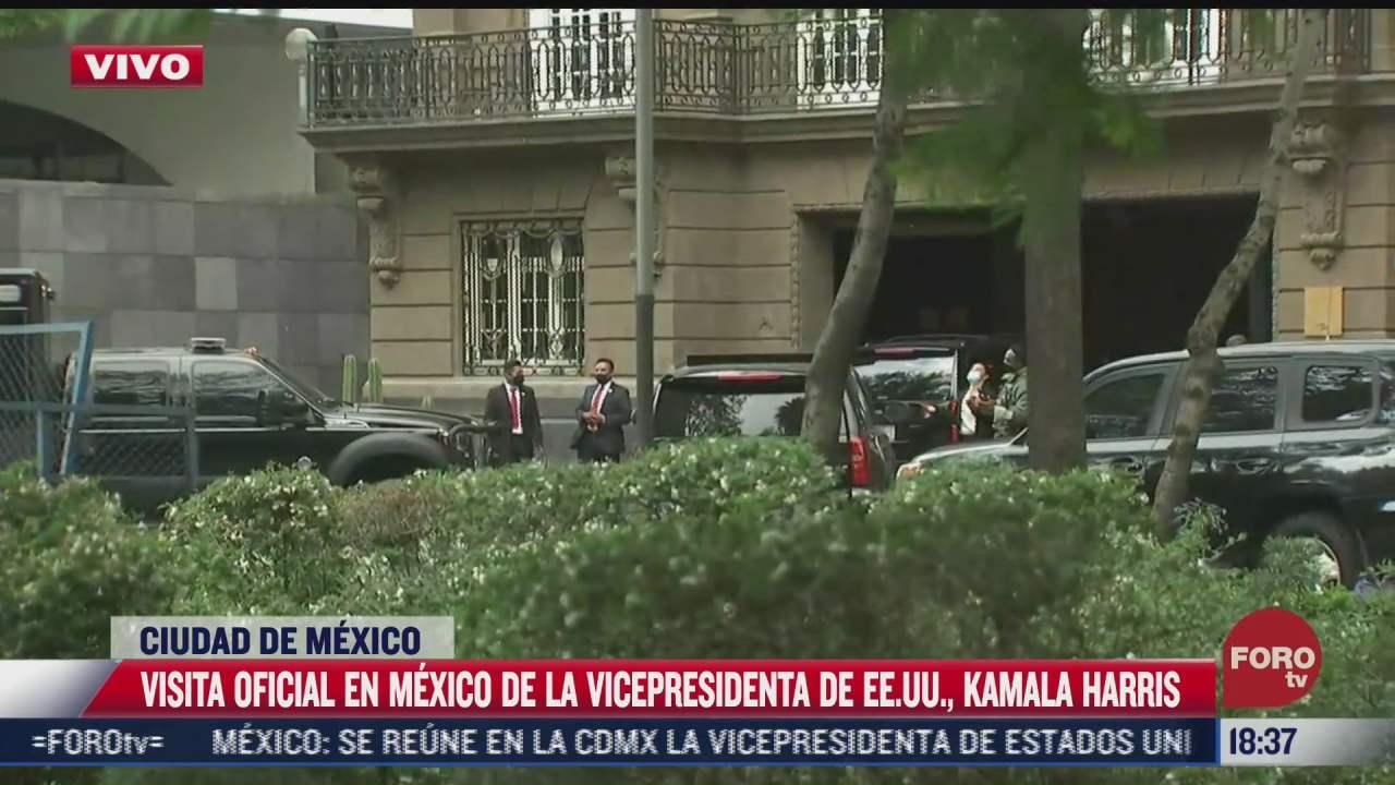 asi fue la visita de kamala harris a mexico