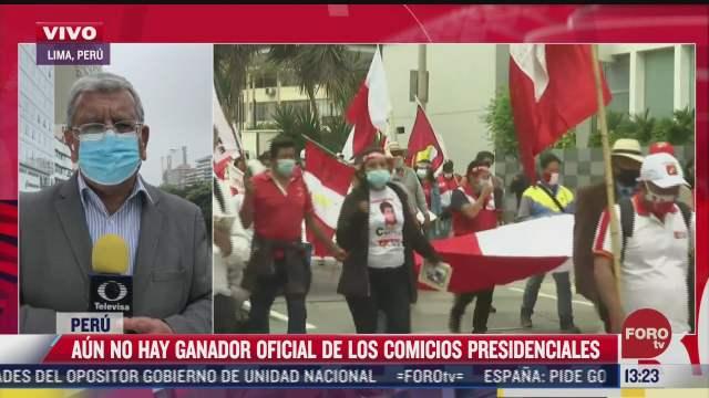aun no hay ganador oficial de las elecciones presidenciales en peru