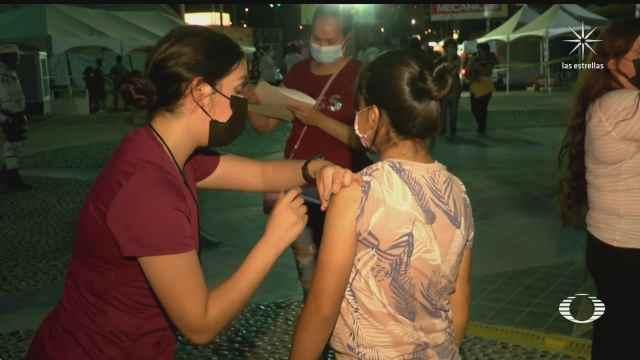 baja afluencia para vacunarse contra covid 19 en mexicali