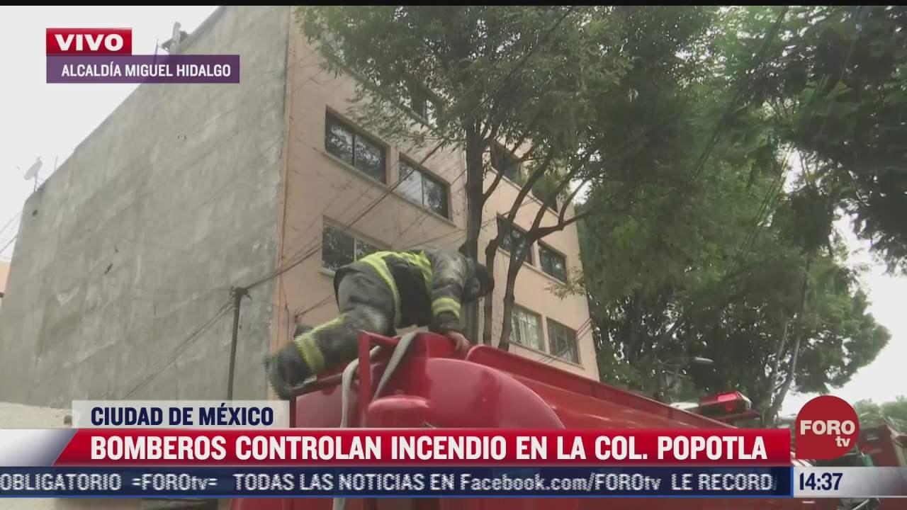 bomberos controlan incendio de departamento de la cdmx