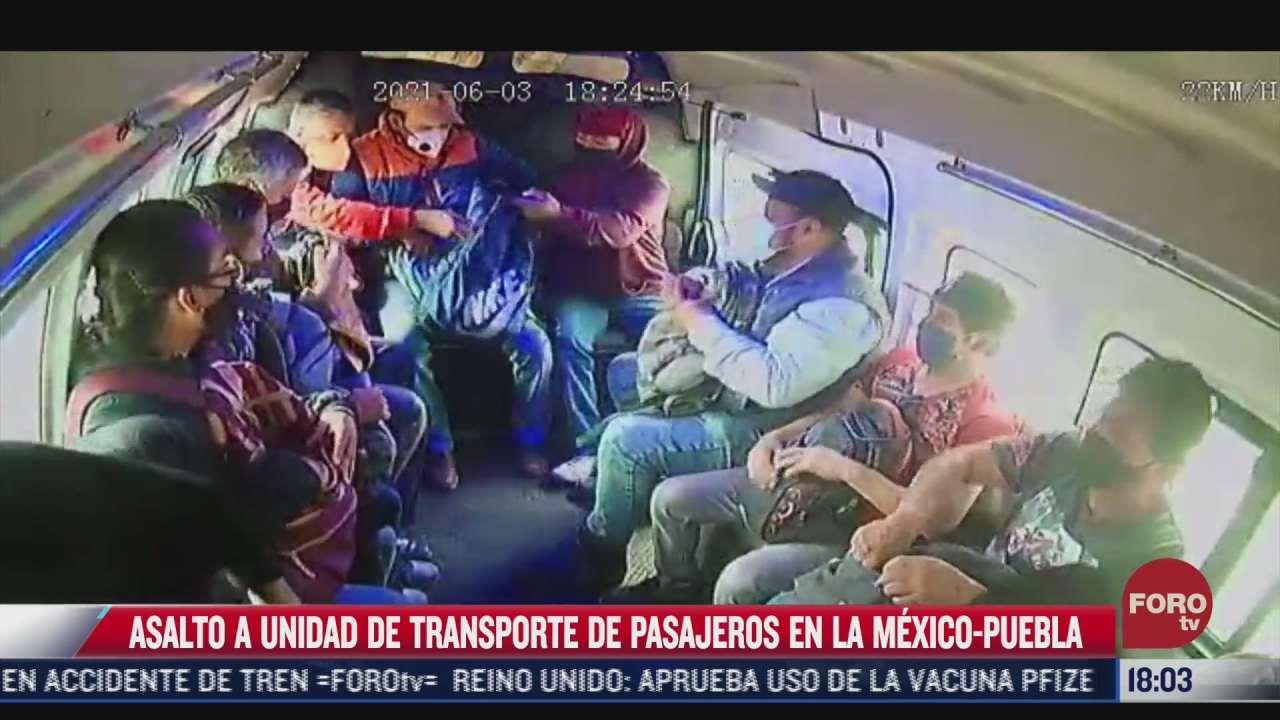 captan nuevo asalto a transporte publico en la mexico puebla