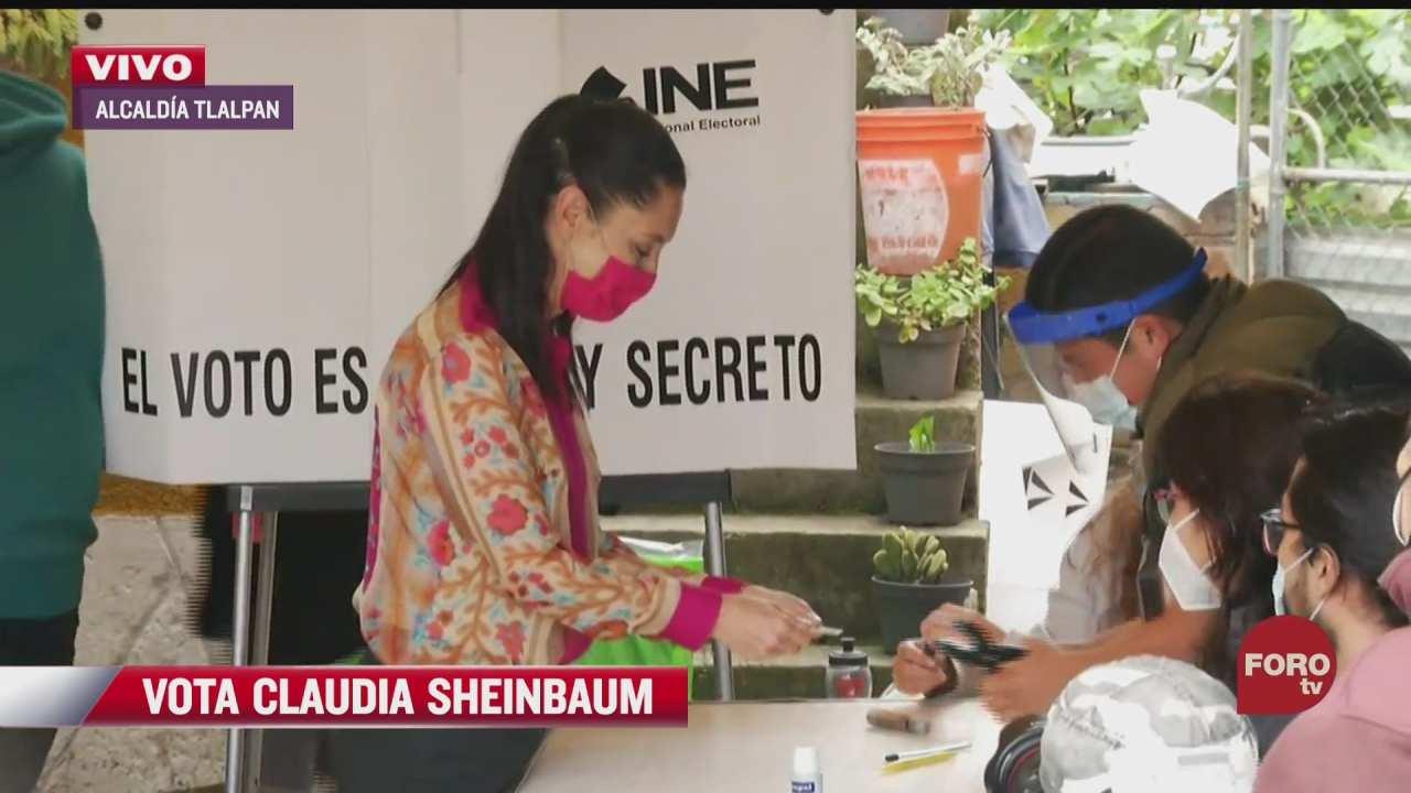 claudia sheinbaum jefa de gobierno de cdmx vota en tlalpan