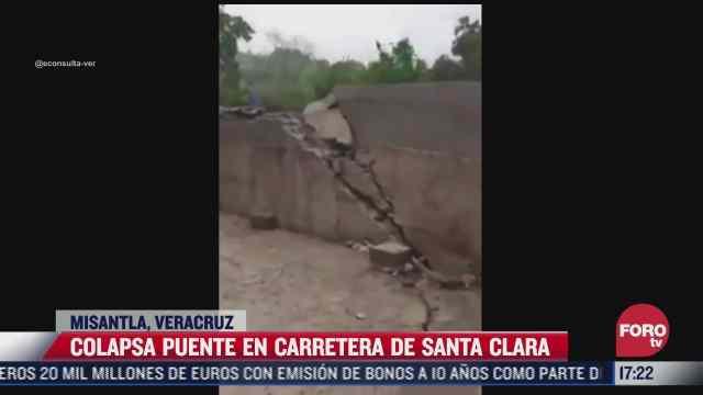 colapsa puente en carretera de veracruz