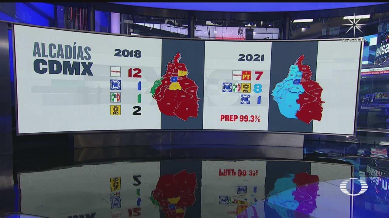 como que el mapa de la cdmx tras las elecciones