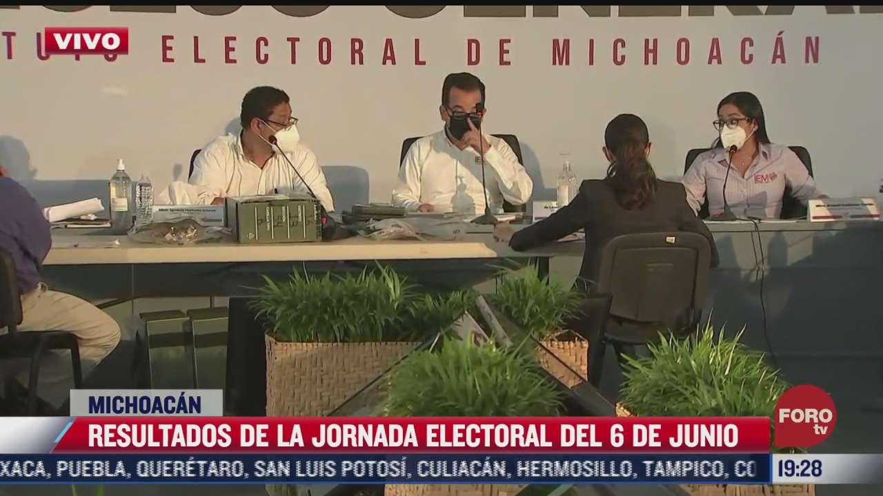 computo distrital de michoacan se realiza en sede de instituto electoral estatal tras amenazas