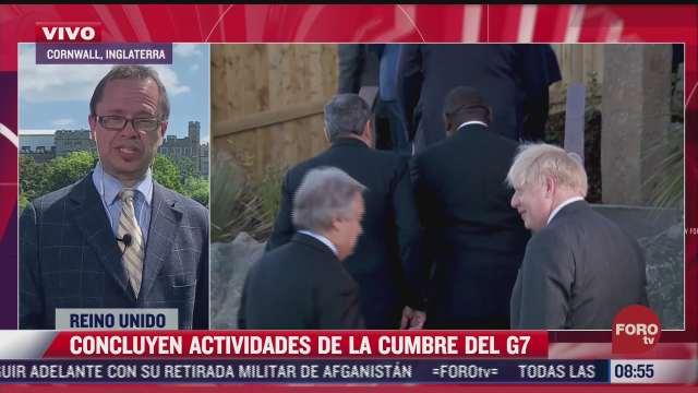 concluyen actividades de la cumbre del g7 en reino unido