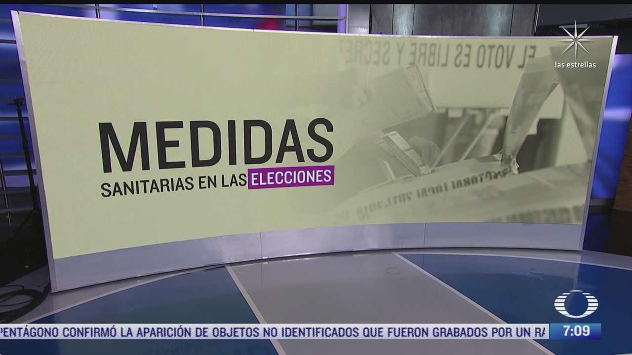 cuales son las medidas sanitarias para el proceso electoral del 6 de junio de