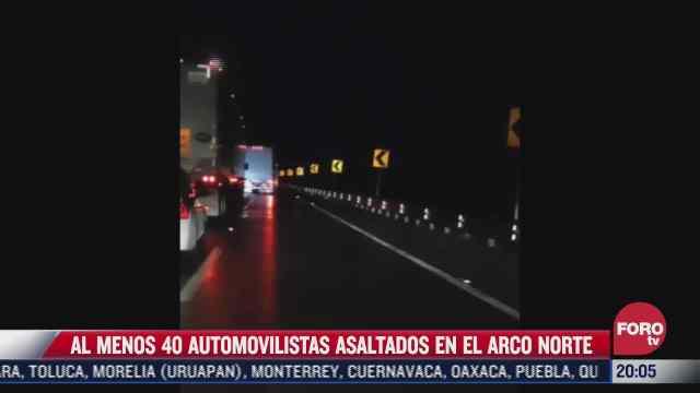 delincuentes aprovechan accidente en arco norte y asaltan a 40 automovilistas