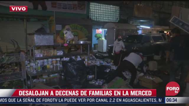 desalojan a decenas de familias en la colonia merced cdmx