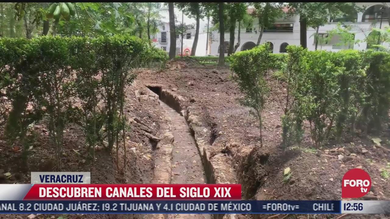 descubren canales del siglo xix en xalapa veracruz