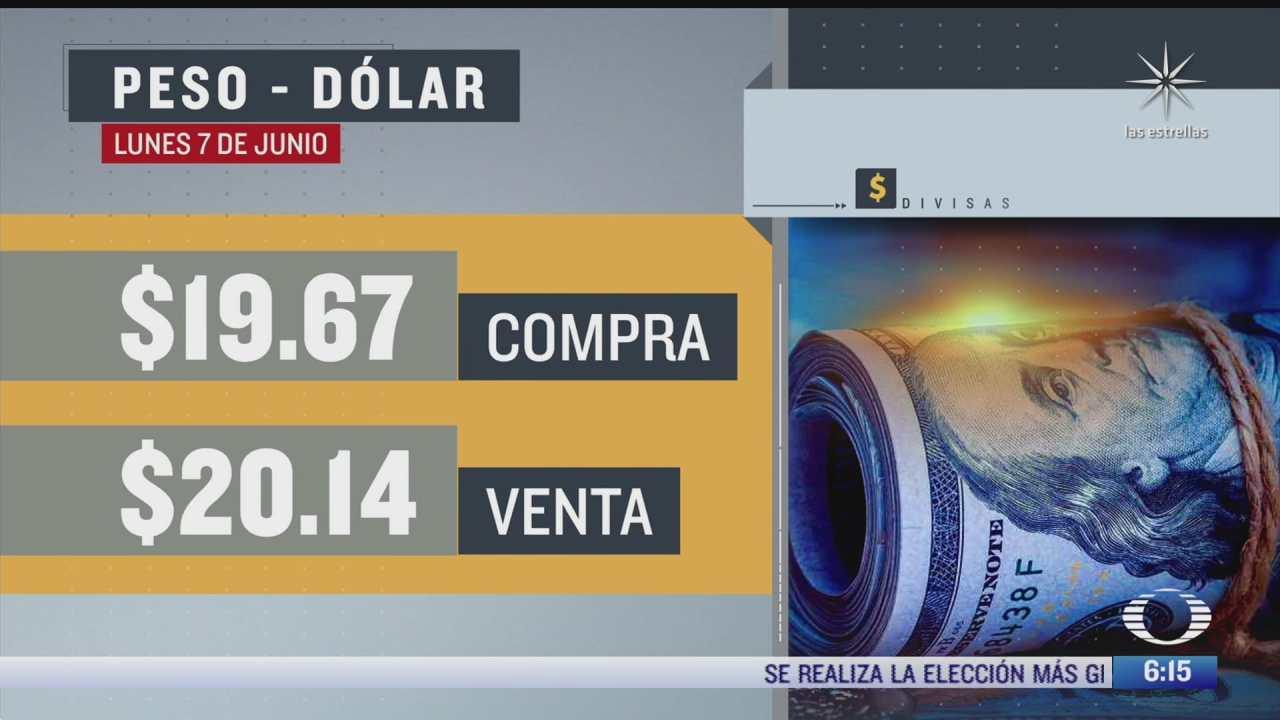 el dolar se vendio en 20 14 en la cdmx del 7 de junio del