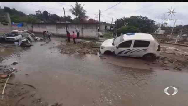 fuertes lluvias causan inundaciones en centro oriente y sureste de mexico