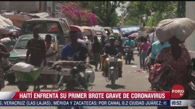 haiti enfrenta su primer brote grave de covid