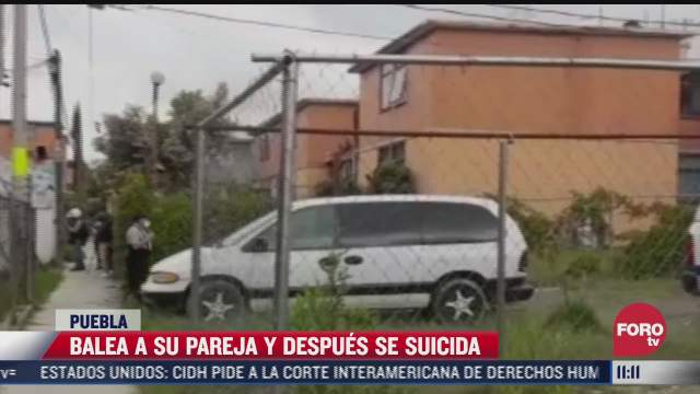 hombre balea a su pareja y despues se suicida