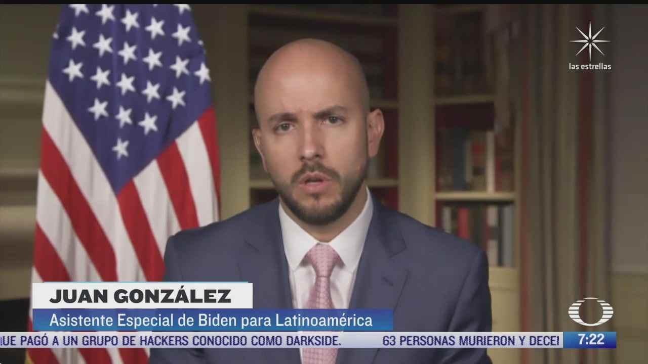 juan gonzalez consejero de biden para america latina concede entrevista exclusiva a noticieros televisa