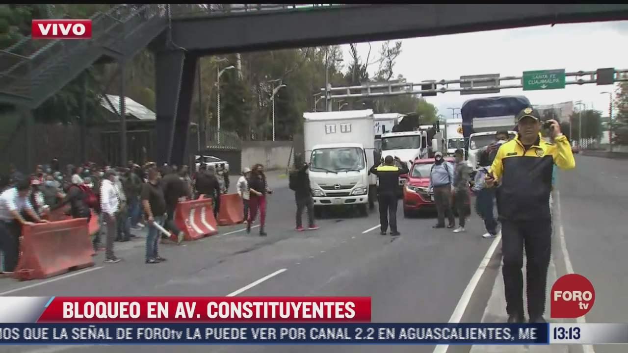 manifestantes liberan bloqueo en avenida constituyentes cdmx