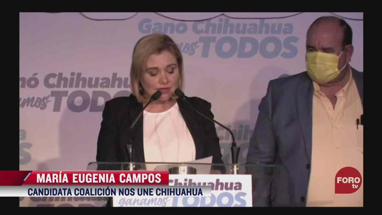 maria eugenia campos envia mensaje de cuidar casillas en chihuahua