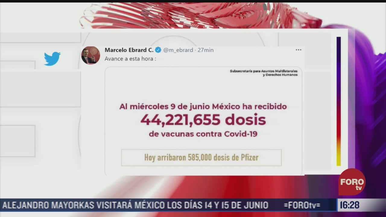mexico ha recibido mas de 44 millones de vacunas contra covid 19 ebrard