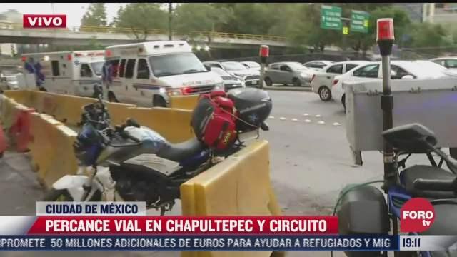 motociclista derrapa en chapultepec y circuito