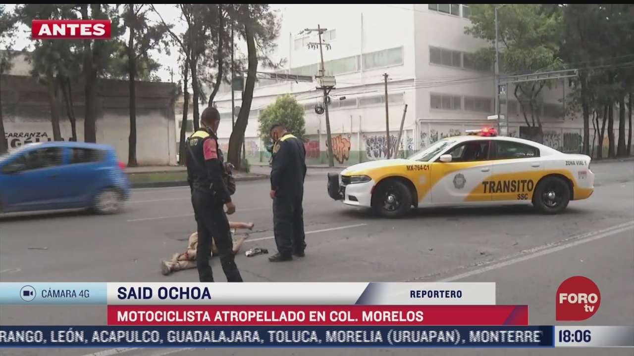 motociclista es atropellado en la colonia morelos cdmx