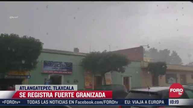 paisajes de tlaxcala se pintan de blanco tras fuerte granizada