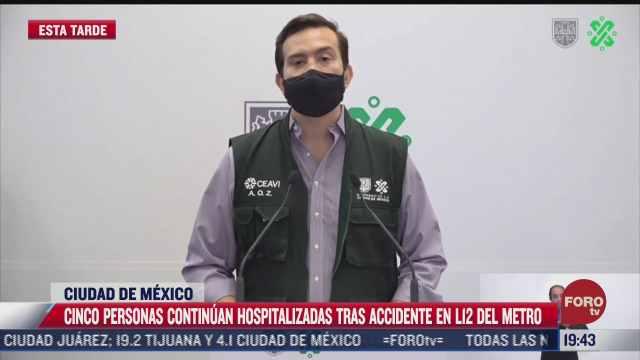 permanecen 5 personas hospitalizadas tras desplome de linea 12 del metro cdmx