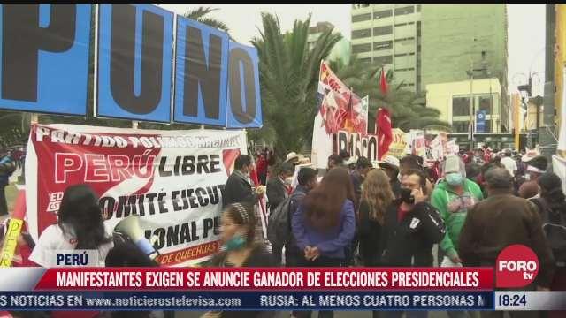 piden en peru definir ganador de elecciones presidenciales
