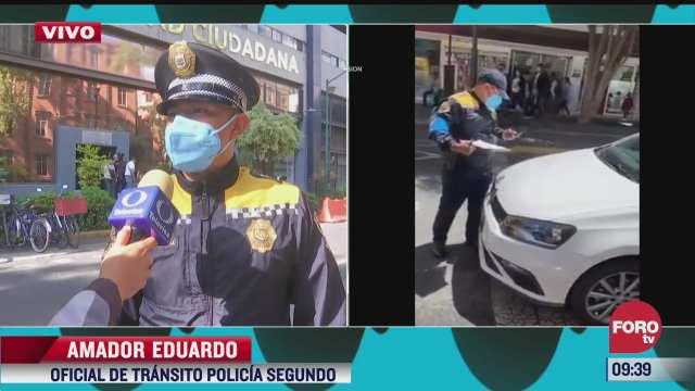 policia de cdmx narra como un conductor intenta atropellarlo tras multarlo