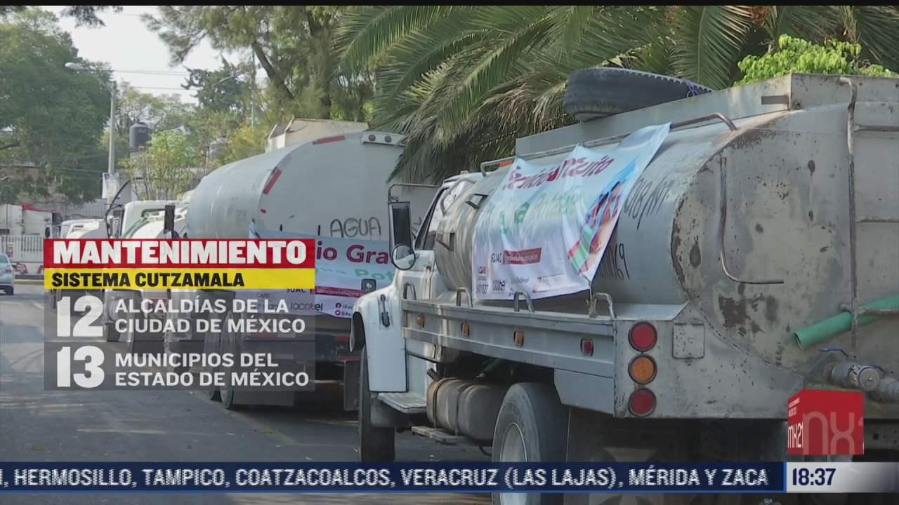 reduciran suministro de agua en cdmx y edomex por mantenimiento